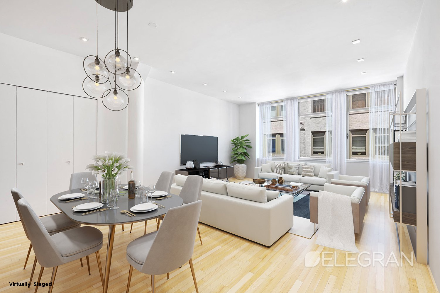 First showing Monday, 9/23!This beautiful 1,055 sq ft loft-style one bedroom has soaring ceiling height with pre-war charm! Renovated open kitchen and bathroom with hard-wood floors throughout the largest, most coveted one-bedroom layout in the building.  Plus washer & dryer in unit, five closets and very low monthlies!The Chelsea Mercantile features a newly renovated lobby, fitness center, playroom, rooftop deck with 360 panoramic city views and grills, valet service and storage units.  Located at 252 7th Avenue, this amazing pre-war Chelsea condo building has Whole Foods on the ground floor and is close to great restaurants and five subway lines (1, C, E, F & M).Call for an appointment today!